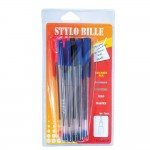 Blister 10 stylos bille assortis