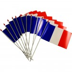 Drapeaux  x 10  9.5x 16cm nation france