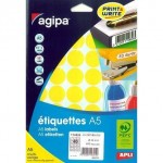Etiquettes Apli multi-usage ø24mm jaune