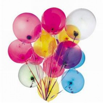 Ballons couleurs assorties par 100-Ballons gonflables