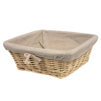Banneton carré naturel 25x25cm - par 6-
