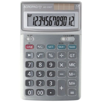 Calculatrice bureau 12 chiffres AC-230 T-Calculatrices