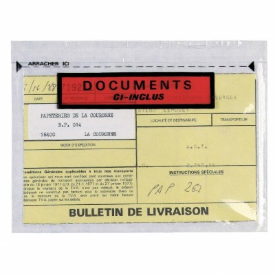 Pochette documents ci-inclus 165 x 228 mm - par 250-Cartonnage et cerclage