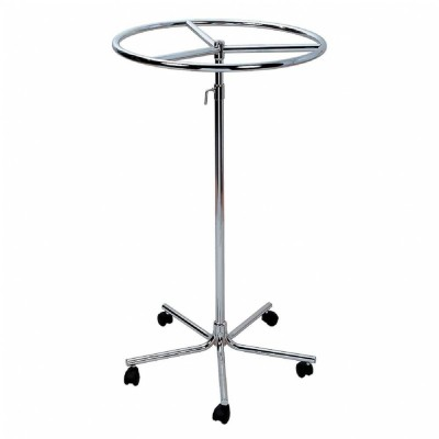 Portant tourniquet ronde chromé Ø 70 cm-Portants ronds et tourniquets