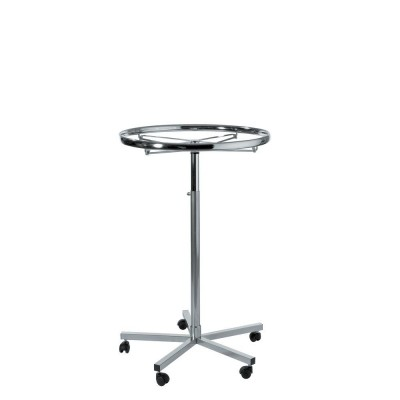 Portant tourniquet ronde chrome Ø 80 cm-Portants ronds et tourniquets