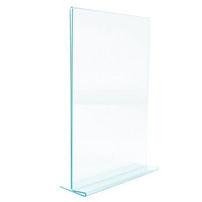 Porte visuel A4 glaslook vertical 21 x 29.7 cm-