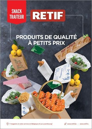 Catalogue RETIF snack 2018